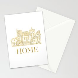 Home Gold Foil Stationery Cards