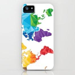World of geometric concept design  iPhone Case