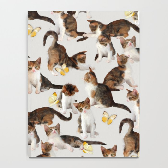 Kittens and Butterflies - a painted pattern Notebook