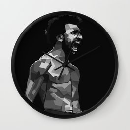 Mohamed Salah on Black and White Color Wall Clock