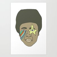 the dude Art Prints featuring dude by Chad spann