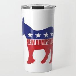 New Hampshire Democrat Donkey Travel Mug