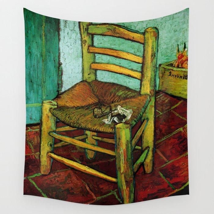 Van Gogh Goghs Chair GoghVincent Goghimpressionistpost Impressionismbrushworkpa Wall Tapestry