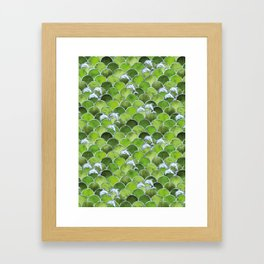 Wave Jumpers (Green) Framed Art Print