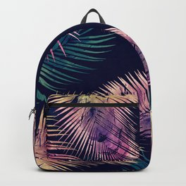 Tropical Leaves at Night Backpack