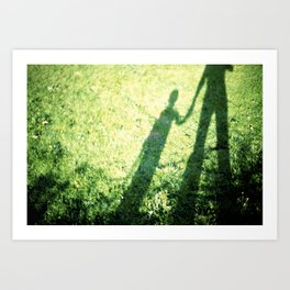 SON AND FATHER Art Print