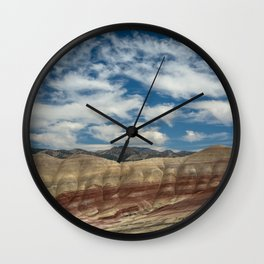 Colorful Painted Hills of Oregon Wall Clock
