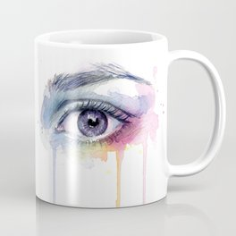 Colorful Eye Dripping Rainbow Coffee Mug
