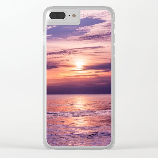 A Moving Sea Between The Shores Clear iPhone Case