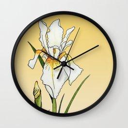 Iridescent Iris Wall Clock