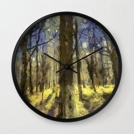 Peaceful Forest Van Gogh Wall Clock