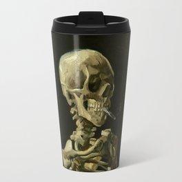 Vincent van Gogh - Skull of a Skeleton with Burning Cigarette Travel Mug