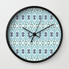 Ikat Java Blue Mini Wall Clock