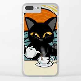 Coffee time Clear iPhone Case