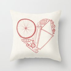 Love Bike Throw Pillow