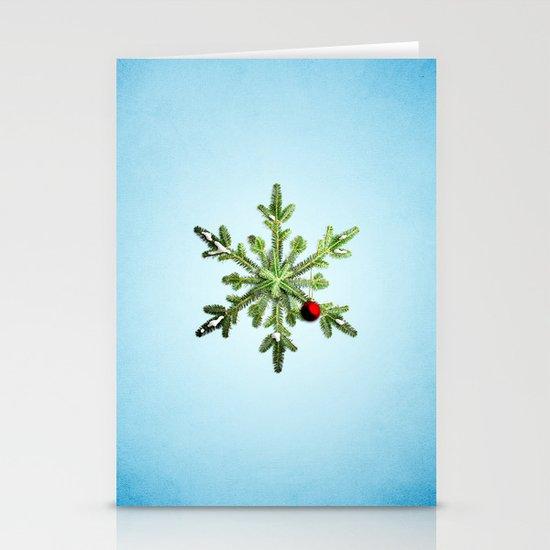 Winter Holidays Pine Snowflake Stationery Cards