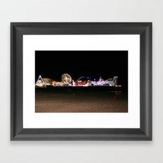 Casino Pier, Seaside Framed Art Print