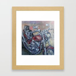 Motorcycle Framed Art Print
