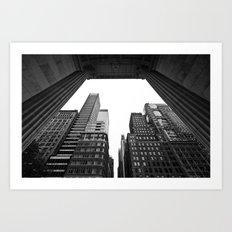 New York under the rain Art Print
