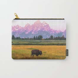 Grand Tetons Bison Carry-All Pouch