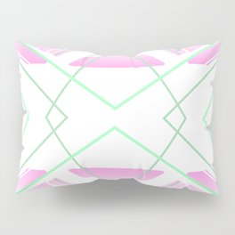Delicate - pink and green abstract Pillow Sham