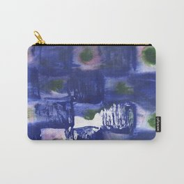 Blue squares clouded watercolor Carry-All Pouch