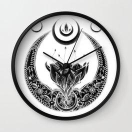 Moon Flower at Midnight Wall Clock