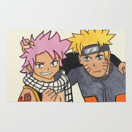 Naruto and Natsu Rug
