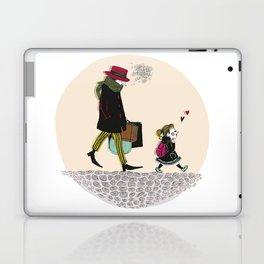 Sad gentleman et little girl Laptop & iPad Skin