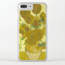 Vincent van Gogh - Still life: Vase with Fifteen Sunflowers (1888) Clear iPhone Case