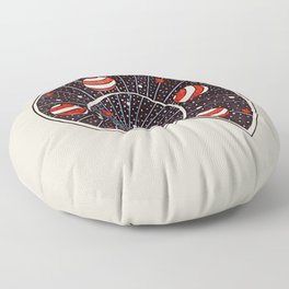 Spiral Galaxy Snail With Beach Ball Planets Floor Pillow