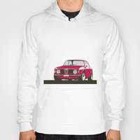 gta Hoodies featuring Alfa Romeo Giulia Sprint 1600 GTA. by Graphic Deluxe