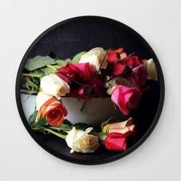 las rosas Wall Clock