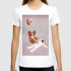 The Hunter White Womens Fitted Tee LARGE