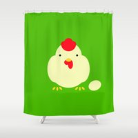 cock Shower Curtains featuring Chicken, cock. by facebook.com/AAPP0