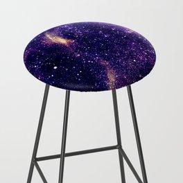 Ultra violet purple abstract galaxy Bar Stool