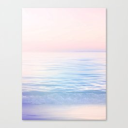 Dreamy Pastel Seascape 2. Blue & Nude #pastelvibes #Society6 Canvas Print