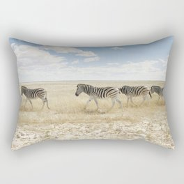 Zebra on African Savannah Rectangular Pillow
