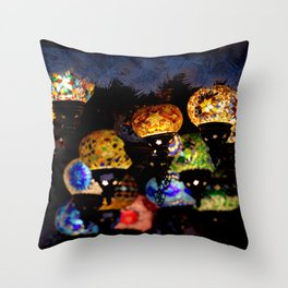 lanterns - night lights Throw Pillow