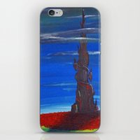 dark tower iPhone & iPod Skins featuring The Dark Tower by artJMOB
