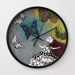 House of Butterflies Wall Clock