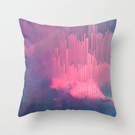 Sweet Stormy Glitches Throw Pillow