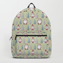 CHRISTMAS GNOMES - green Backpack