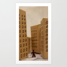 Urban life neurosis Art Print