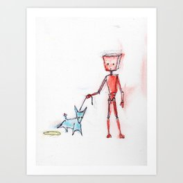Red Finally Experiences Life in the Fast Lane Art Print