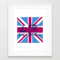 british flag Framed Art Prints featuring British Flag in Pink by GraphicDivine
