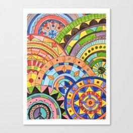Overlay mandala  Canvas Print