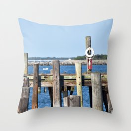 By The Ocean Throw Pillow