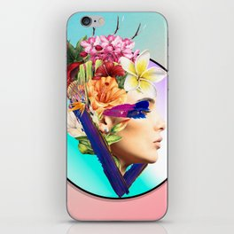 Woman poster iPhone Skin