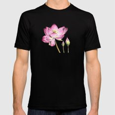 Lotus Bloom Black MEDIUM Mens Fitted Tee